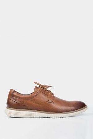 Zapatos cordón mullen de cuero para hombre lisos