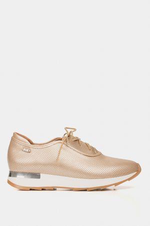 Zapatos cordón de cuero para mujer suela deportiva