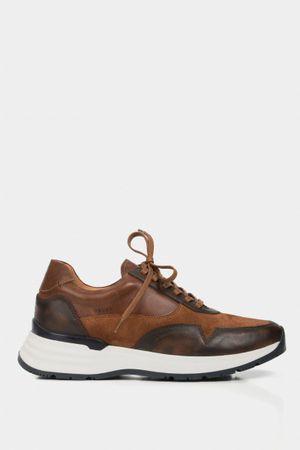 Zapatillas deportivas isey de cuero para hombre detalles de color