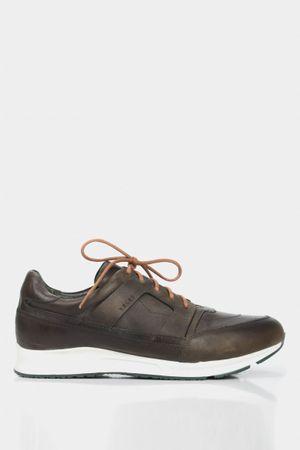 Zapatillas de cuero liso para hombre deportivos