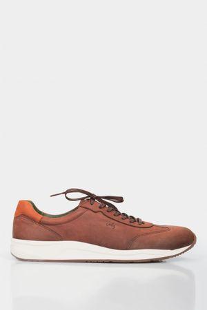 Zapatillas deportivos roud de cuero para hombre suela bicolor