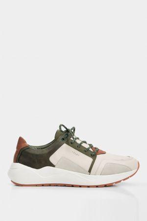 Zapatillas deportivos támesis de cuero para hombre acentos de color